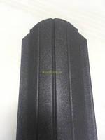Штакет металлический RAL 7024 матовый двухсторонний (0.5мм ) форма 108  мм