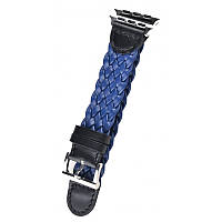 Ремешок Apple Watch Weave Buckle 42mm синий