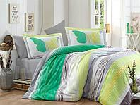 Комплект постельного белья сатин тм Hobby евро размер Nicoletta зеленый