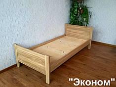 """Дубовая односпальная кровать """"Эконом""""."""