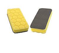 CPA20 Апликатор очищающий/полирующий жесткий 140х70мм, желтый - Flexipads Clay Pad Applicator YELLOW