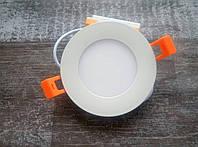 Светодиодный встраиваемый светильник (даунлайт) LEO-4, 4W 4000K