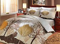 Комплект постельного белья сатин тм Hobby евро размер Infinity кремовий