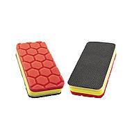CPA80 Апликатор очищающий/полирующий красивый финиш 140х70мм, красный - Flexipads Clay Pad Applicator RED