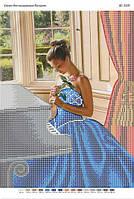"""Схема для вышивки бисером """"У пианино""""   размер: 42*30 см"""