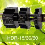 HDR-15, HDR-30, HDR-60, HDR-100  - Блоки питания на Din-рейку Mean Well в ультра тонком корпусе.