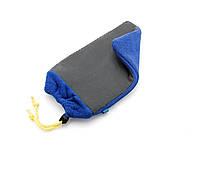 CMFIN Рукавица односторонняя с глиной (автоскраб), синяя - Flexipads Clay Mitt Blue Fine Grade