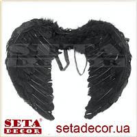 Чёрные маленькие крылья Ангела детские карнавальные