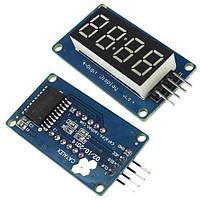 4-разрядный 7-сегментный индикатор под часы на драйвере M1637 Arduino