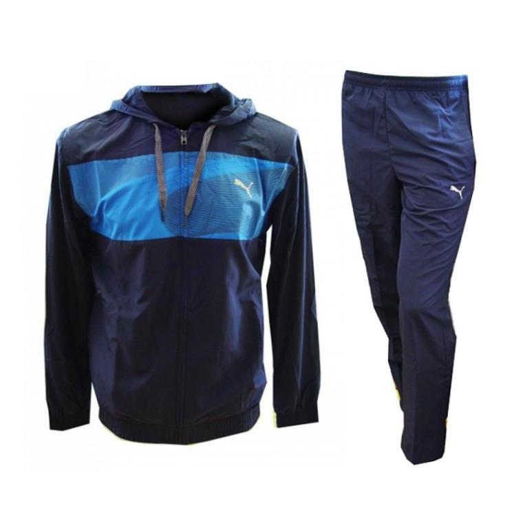 b9b83c55c1c1 Купить Костюм спортивный мужской Puma Fitness Tracksuit 832235 06 (синий,  полиэстер, для ...