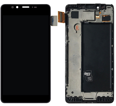Дисплей (экран) для Microsoft (Nokia) 950 Lumia (RM-1118) с сенсором (тачскрином) и рамкой черный, фото 2
