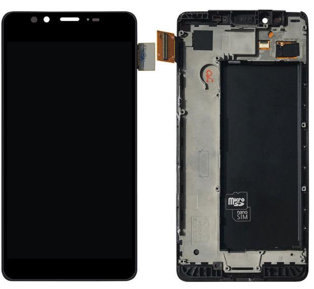 Дисплей (екран) для Microsoft (Nokia) 950 Lumia (RM-1118) з сенсором (тачскріном) і рамкою черный Оригінал