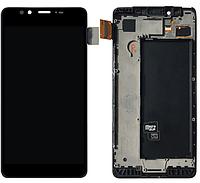 Дисплеи (экран) для Microsoft (Nokia) 950 Lumia Dual Sim + с сенсором (тачскрином) и рамкой черный Оригинал