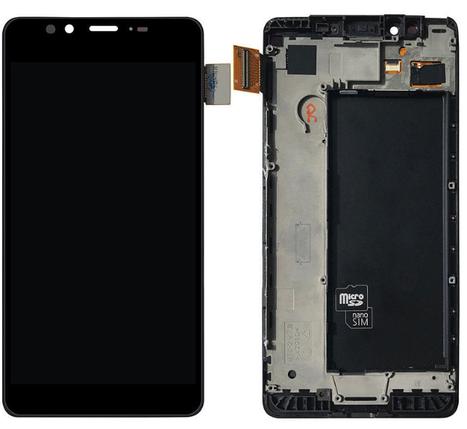 Дисплей (екран) для Microsoft (Nokia) 950 Lumia (RM-1118) з сенсором (тачскріном) і рамкою черный Оригінал, фото 2