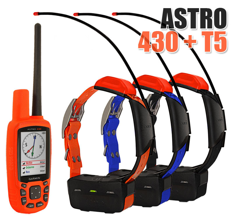 Garmin Astro 430 + 3 ошейника Garmin T5/T5 mini. Навигатор для охоты