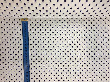 """Польская хлопковая ткань """"горох синий на белом 4 мм"""", фото 2"""