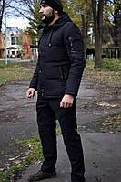 Мужская зимняя куртка пуховик черная