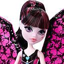 Кукла Монстер Хай Дракулаура с крыльями Летучая мышь Monster High Ghoul-to-Bat Transformation Draculaura DNX65, фото 3