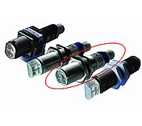Датчик фотоэлектрический Datalogic (Datasensor) серии S51 Никелированная латунь, Аксиальная (Nickel Plated Brass, Axial), S51-MA-2-B01-PK , Поляризованный рефлекторный (Polarized retroflective), Встроенный кабель 2м (2m Cable), PNP
