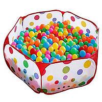 Манеж / сухой бассейн для детей с шариками 100 шт. Польша