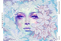 """Схема для вышивки бисером """"Снежная королева""""   размер: 42*30 см"""