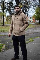 Мужская зимняя куртка (пуховик) бежевая