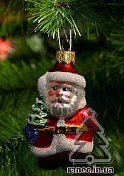 Стеклянная елочная игрушка Дед Мороз Ф1 1840
