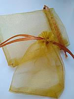 Мешочки ювелирные из органзы 7х9 см,  золото.  Производство Украина. Цена за шт.