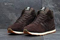 Чоловічі зимові  кросівки  Adidas Neo (3542) коричневі