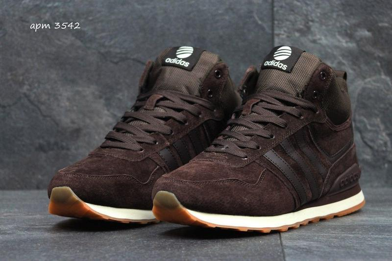 Чоловічі зимові кросівки Adidas Neo (3542) коричневі f369e4a369c4c