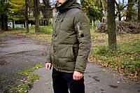 Зимняя мужская куртка (пуховик) хаки