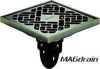 Трап сливной MAGdrain FC10Q5-Q - полированная бронза, 100х100 мм