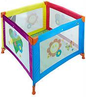 Детский манеж Wonderkids BabyJoy (разноцветный) , квадратный манеж, манеж для детей