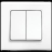 Выключатель 2-кл. Viko Linnera белый