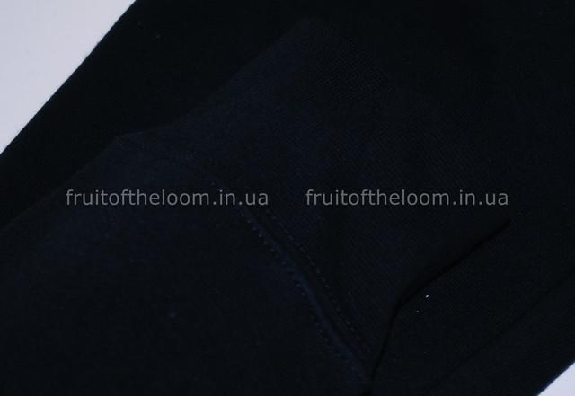 Глубоко тёмно-синяя  женская премиум толстовка с капюшоном на замке