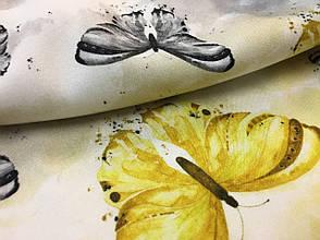 """Ткань бамбуковая, муслин плоский """"бабочки"""", фото 2"""