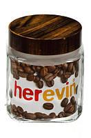 Стеклянная банка HEREVIN WOODY 1л 231010-000