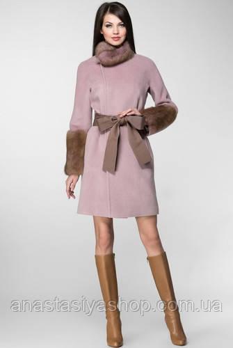 Эксклюзивное зимнее пальто с мехом норки