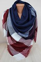 Теплый платок-плед 140х140 см