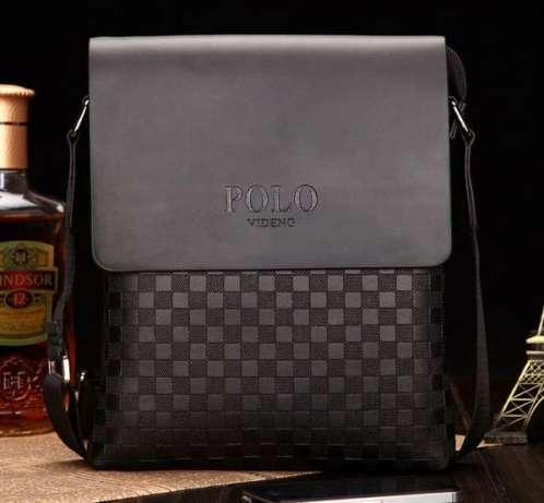 Гарантия! Кожаная мужская сумка POLO   Деловая и качественная сумка