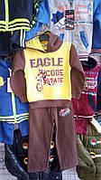 Стильный спортивный костюм с начесом для мальчика
