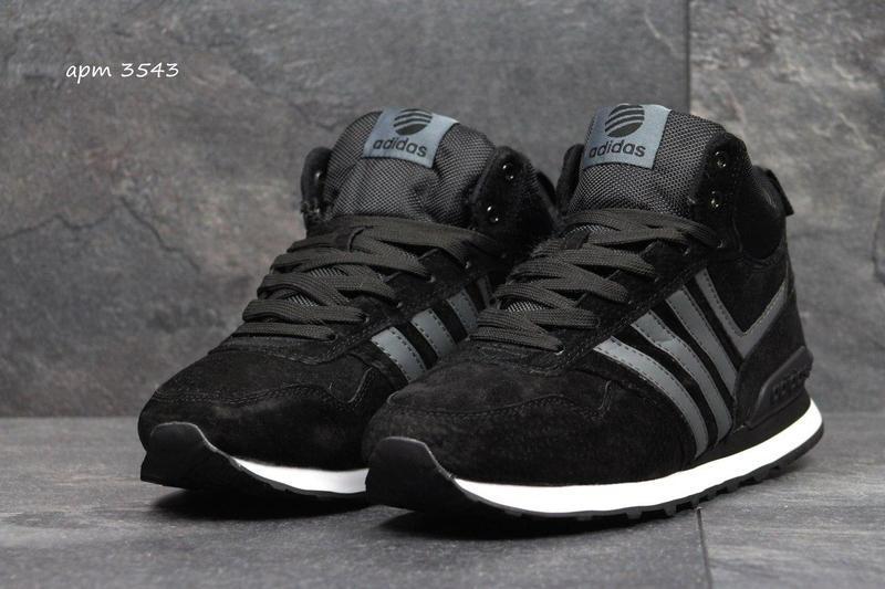 Чоловічі зимові кросівки Adidas Neo (3543) чорні  a6308b9b5bf7d