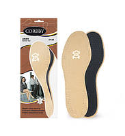 Двухслойные стельки для обуви LEDER LATEX Corby, фото 1