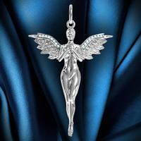 Серебряный кулон Ангел.