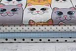 Ткань хлопковая с большими котами серо-оранжевыми, № 1012, фото 5