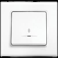 Выключатель 1-кл. проходной с подсветкой Viko Linnera белый