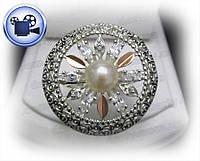 Серебряное кольцо с золотыми накладками Фортуна.