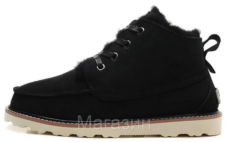 Мужские угги UGG Australia David Beckham Black ботинки угги Девид Бекхем черные
