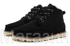 Мужские угги UGG Australia David Beckham Black ботинки угги Девид Бекхем черные, фото 2