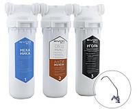 """СВОД Фильтр """"SVOD-BLU""""для жесткой водопроводной воды с повышенным содержанием железа 3-MCR/F (k) + кран для очищенной воды"""